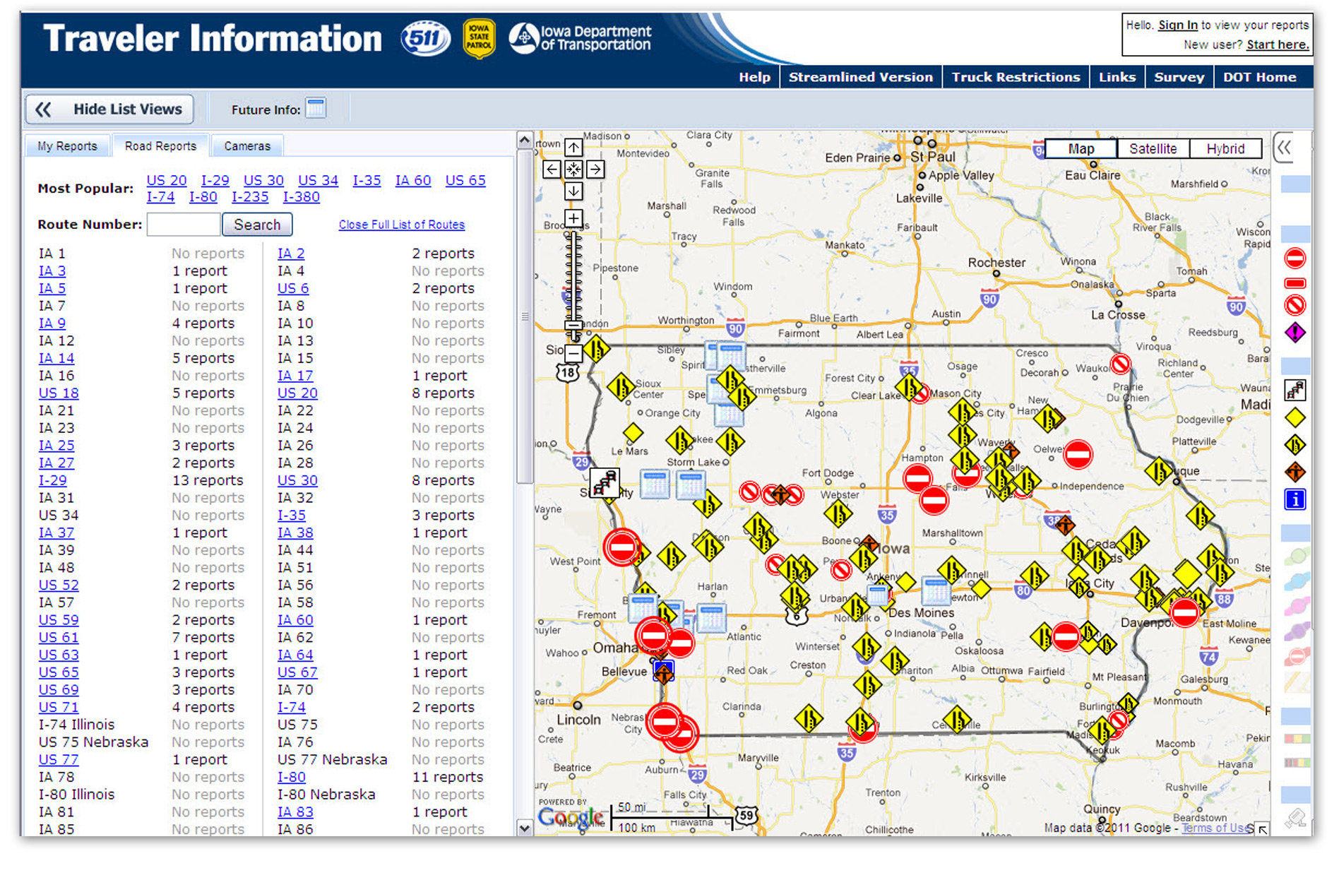Information Iowa DOT - Road map of iowa