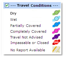 Travel conditions box