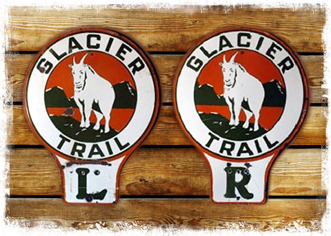 Glacier Trail signs - copyright Blake Reding