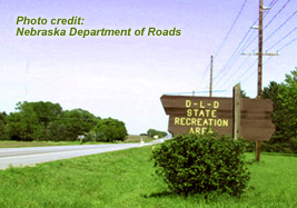 DLD state recreation area sign