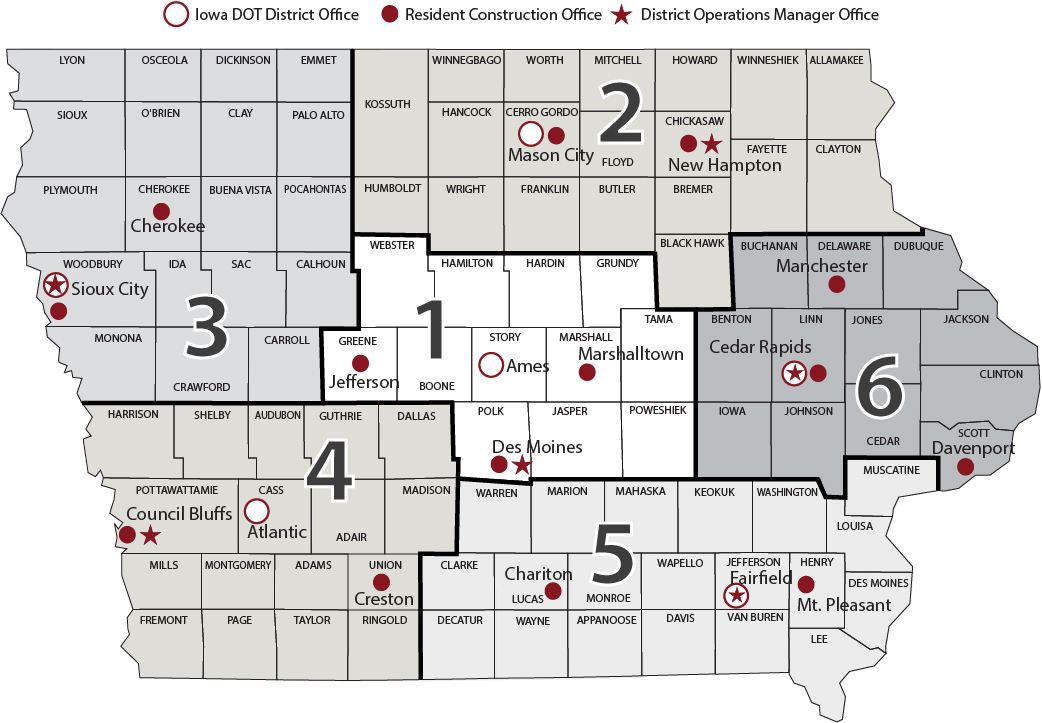 Districts - Iowa Department of Transportation