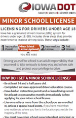 Minor School License