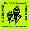Sticker: Bike Helmets - Don't hit the road without one.