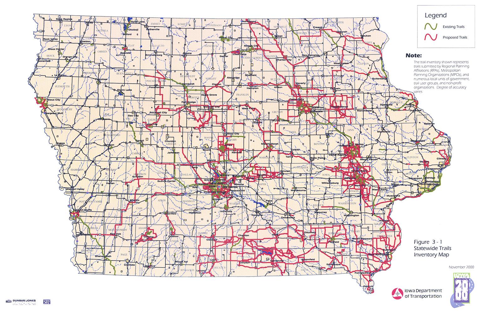 Iowa Trails Iowa Department Of Transportation - Map of iowa towns