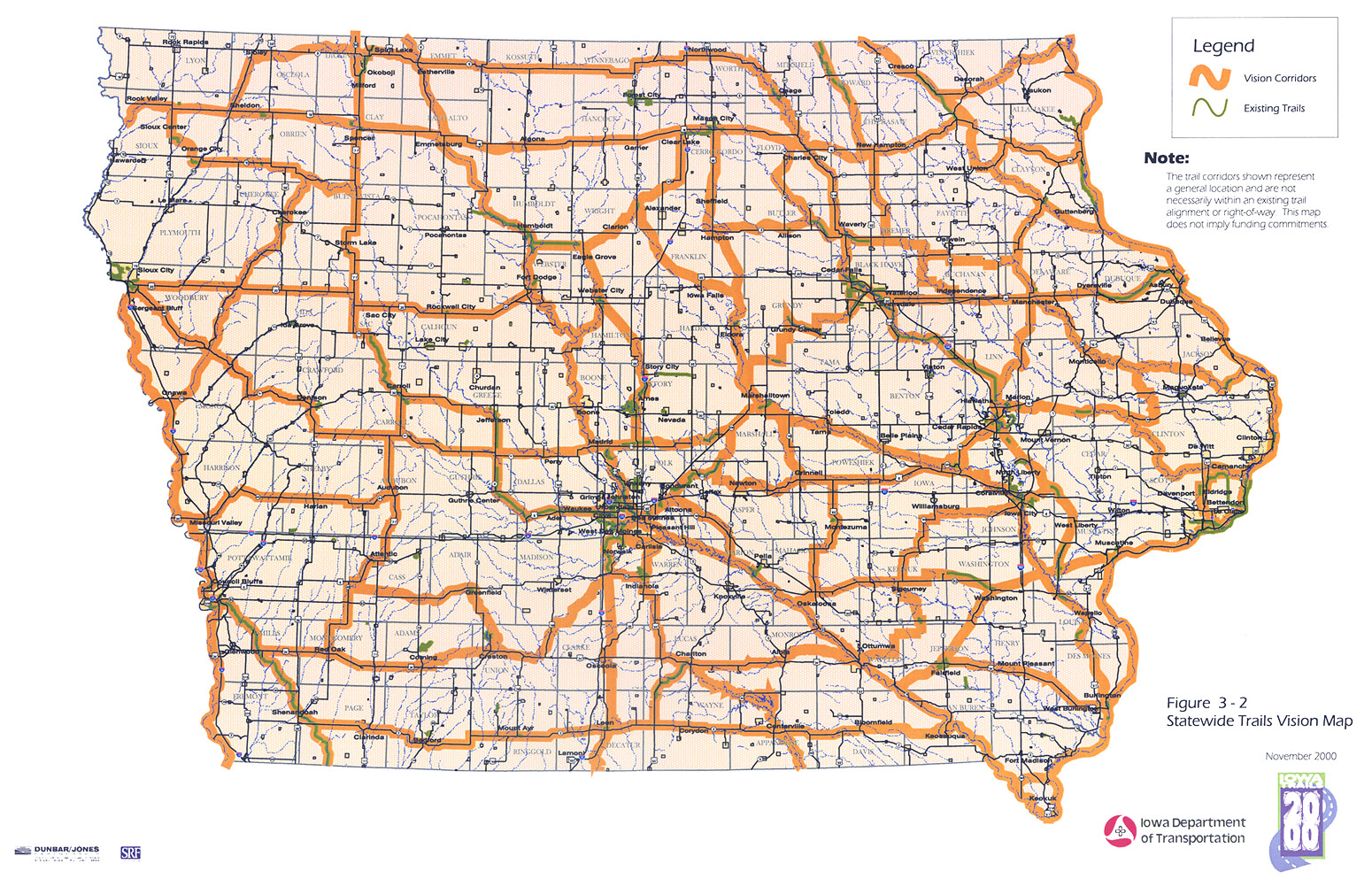 Iowa Trails Iowa Department Of Transportation - State of iowa map