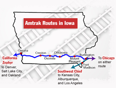Amtrak Routes in Iowa