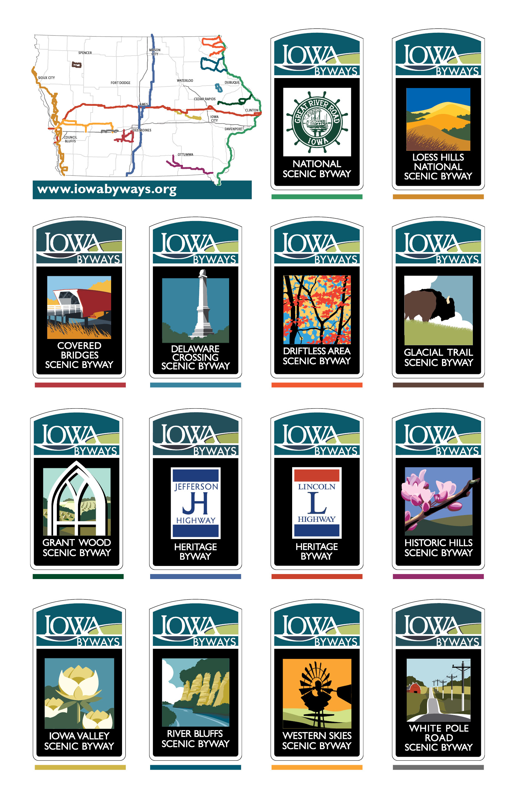 Iowa Byways posters