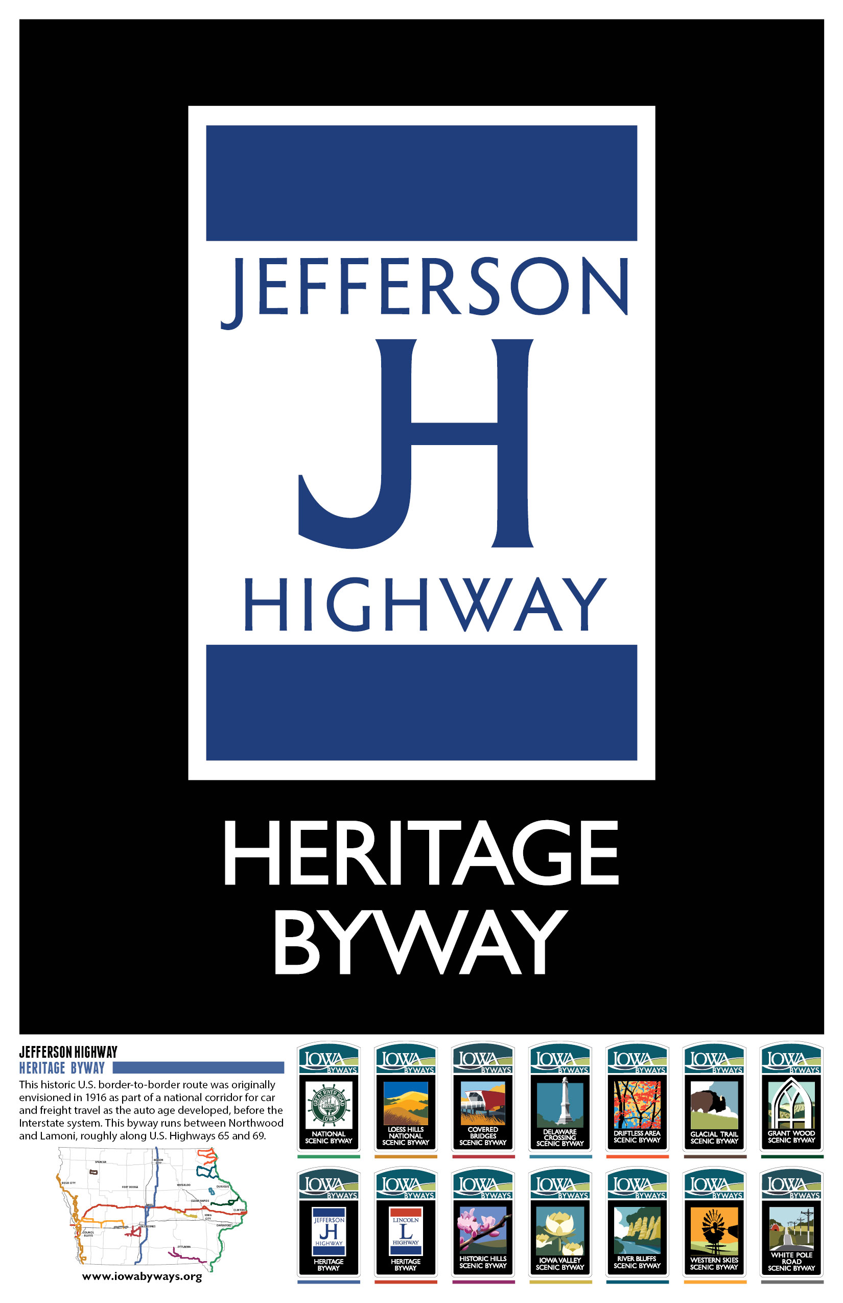 Jefferson Highway Iowa Byways Poster