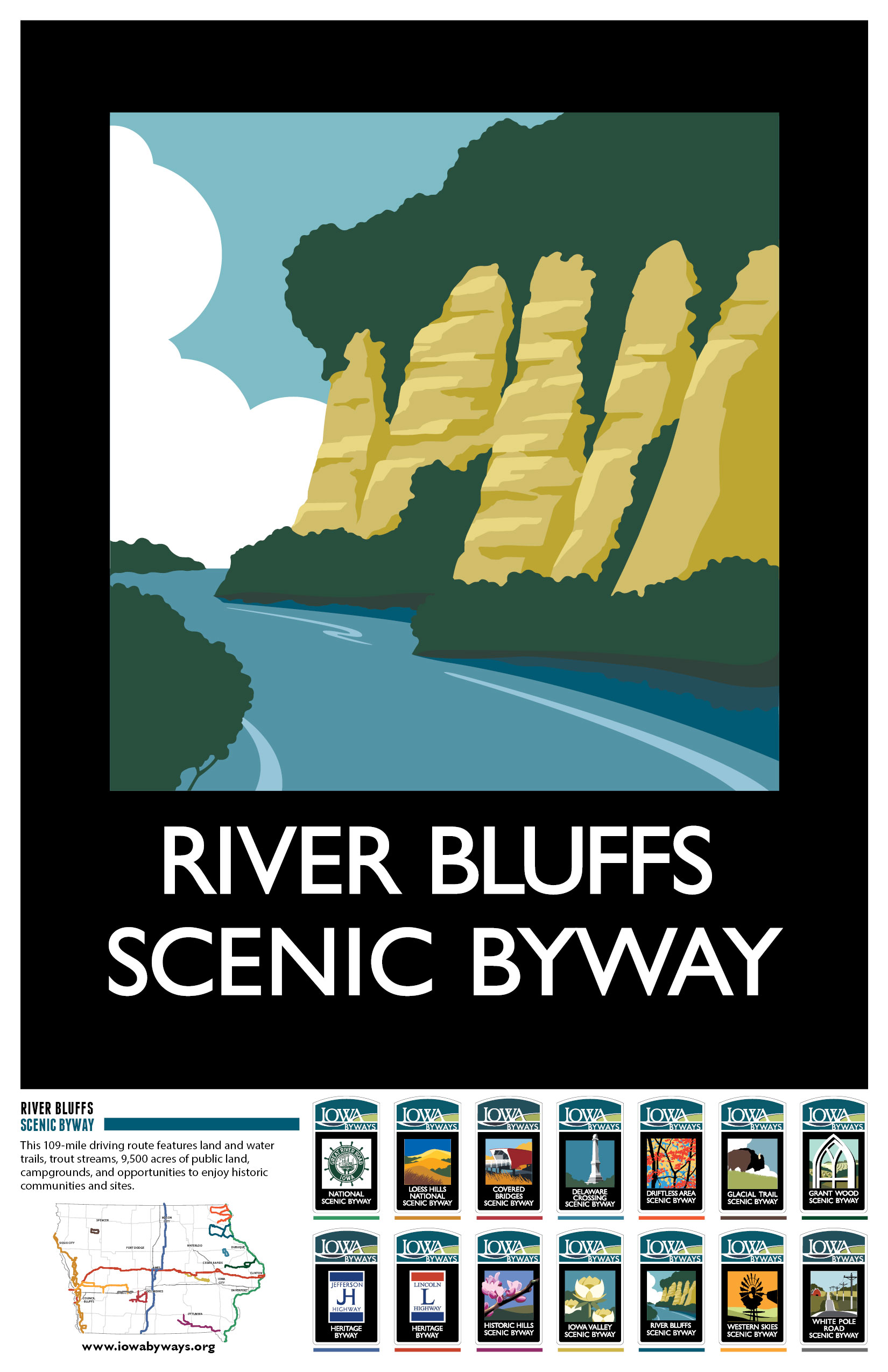 River Bluffs Poster