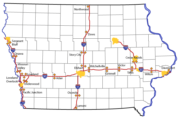 Office Of Maintenance Iowa Department Of Transportation - Road map of iowa