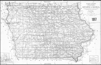 1917 state of Iowa map thumbnail link