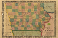 1855 Iowa Rail map thumbnail link