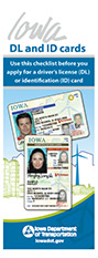 Iowa DL/ID Cards - identification checklist