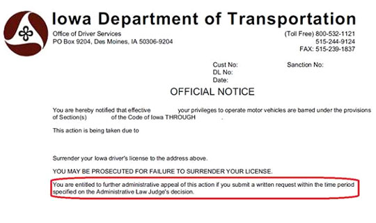 Official Iowa DOT: Iowa Suspended Driver's License