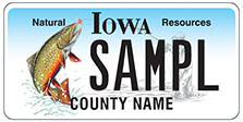 Natural Resources Trout License Plate