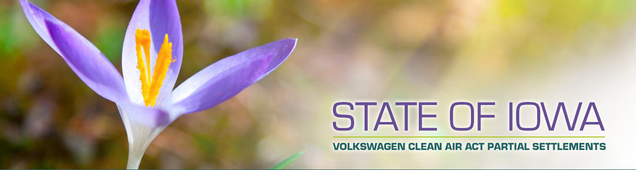 volkswagen clean air act settlements state  iowa